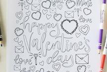 Walentynki - kartka