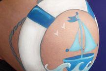 bellypainting / bellypaint is een hele leuke ervaring en herinnering aan je zwangerschap.