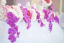 Decoratiuni eveniment cu orhidee si hortensia roz pal / www.IssaEvents.ro