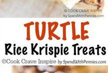 Turtle Rice Krispy Treats