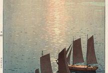 ©Hiroshi Yoshida / Japanese painter(1876-1950). oil painting,woodblock print,watercolor painting. Hirosi Yoshida/吉田博