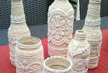 glazen potten versieren