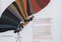 Chal y cuellos a crochet