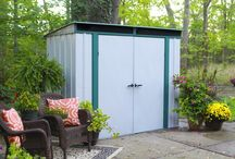 Arrow® Euro-Lite™ Pent Window Shed -  8' x 4' - ELPHD84 / Wide enough to hit most storage needs, yet thin enough to fit in the thinnest of areas, the ELPHD84 Steel Storage Shed is an excellent fit for larger storage needs.