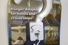 Latest Gadget For The Savvy Traveler - The ConvertAHanger - anti theft hotel hanger adapter hook / The ConvertAHanger makes it easy for any traveler to turn those (hook-less) hotel hangers into ones that can be used anywhere.  • Steam out those wrinkles from packing • Hang your hand washed blouse, just stained during dinner • Hang dry wet swimsuits or rain-soaked clothes?  • Hirty kid's clothes easily rinsed during the family vacation  Attach the ConvertAHanger to the end of the post on the (hook-less) hotel hanger and you are good to go.  More details can be found at www.convertahanger.com