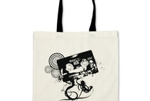 tote bags for music / by Elizabeth Wilson