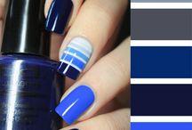 Uñas con azul