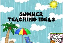 Summer Teaching Ideas / Summer themed ideas and resources for elementary classrooms.
