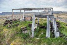 Thulé, vestiges Inuit. Thule, inuit ruins. / Article Photo Présentation des ruines de la région de Thulé. Vestiges inuits du sciècle dernier et paléo-inuit.