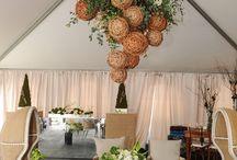 tropical hanging floral decoration