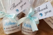 Unique baby shower favours / Personalised baby shower favours. Many designs to suit your theme