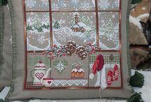 cross-stitch, embroidery