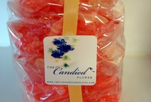 We Make Candy too.. Very Adult Candy / Here is an assortment of Hand Poured Gourmet  rock candy,lollipop cocktails  and romantic adult candy your enjoyment.. The Candied Flower and Cocktail Lollipops by The Wacky Cookie Company / by The Wacky Cookie Company