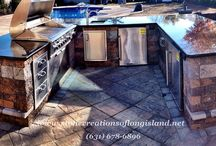 Outdoor Kitchen   West Islip, N.Y 11795 / Stone Creations of Long Island Pavers and Masonry specializes in masonry design and outdoor living, serving communities all across Long Island, Queens and Brooklyn in all aspects of home improvement and repair. From custom brickwork and pavers to asphalt and concrete, Stone Creations of Long Island provides free estimates at your home or business seven days a week.  Paul Saladino Office (631) 678-6896 Mobile (631) 404-5410 / by Stone Creations of Long Island