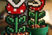Hama Mario Bros Geek  Perler Beads