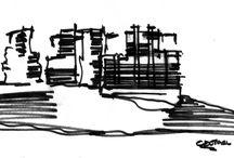 Sketches/Bocetos / Todo inicia con un trazo.