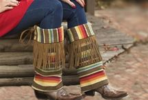 Boot Rugs / Spice up your wardrobe with a pair of Boot Rugs!  A great fashion accessory to your favorite pair of boots!