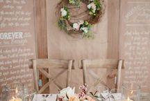 Amy and Joe's Beautiful Wedding / Table settings