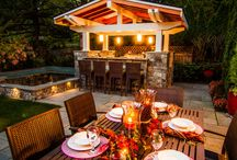 Outdoor Kitchens / We love Outdoor Kitchens! What better way to build memories in your landscape! Fun, food, family, and friends! Great combination!  This Outdoor Kitchen board boasts some of our favorite Paradise Restored kitchen designs as well as some other favorites!