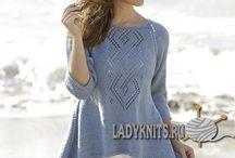 wzory z DROPSA / modele swetrów i sukienek na drutach i szydełku inspirowane stroną DROPSA