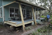 Restoring an Old Florida Classic / Homeowner Specs Building Reclaimed Legacy Heart Pine and River-Recovered® Heart Cypress for Porch Renovation  |  http://www.heartpine.com/blog/2015/04/restoring-an-old-florida-classic/