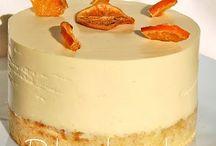 tarta de naranja con corazón choco