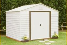 WDA1012 White Dallas Steel Storage Shed 10' x 12' / The Steel Storage WDA1012 Shed