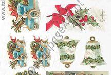 Papier ryżowy do decoupage ITD Boże Narodzenie