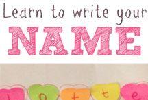 Name writing ideas