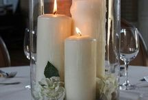 Kerzen und gestecke