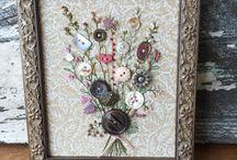 vintage button art