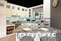 French Provincial Kitchen / Stylish presentation of European features with clever storage capabilities.