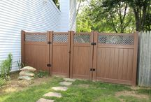 Vinyl Wood Fence / Be EverShore! Why choose wood fence, when vinyl is final! looks of wood without the maintenance- NO painting & NO replacing. Shoreline's version of wood!