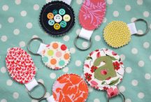 Fabric key rings