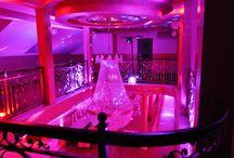 Dekoracja światłem / Dekoracja światłem sali weselnej eventu