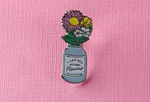 Pins And Brooches / Enamel pins, embroidered brooches, sew on patches and ideas to make your own pins and brooches.  Inspiring ideas to buy and make.