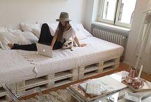 łóżka z palet