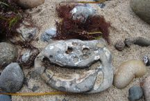 Stones on the beach / There are faces everywhere