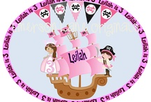 Twins' Princess and pirate party