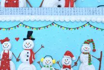 Snowman Cakes, Cupcakes, and Sweets! / The cutest snowman themed cakes, cupcakes, and sweets!