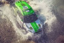 Coming up for a breath of fresh air in the middle of one of the past Dakar Rallies. - photo from miniusa