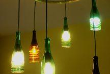 Lampadari bottiglie