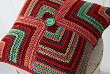 Вязание - Подушечки+пледы