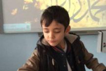 Ebru / Okulöncesi ve ilkokul öğrencileri ile  yapılan Ebru dersleri