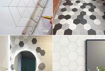 Decoracion inspiracion. / Azulejos y pisos de cemento. Baldosas hidraulicas Inspiracion decoracion Diseño de interiores Espacios exteriores Arquitectura y texturas.