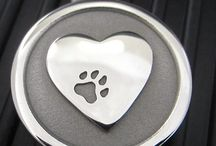 Silver Paw Pet Tags / Fabulous solid Stainless Steel Pet ID Tags handcrafted in Maine with a lifetime guarantee. Indestructible Tags!