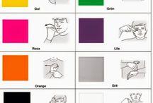 Teckenspråk / Veckodagar, färger, kläder