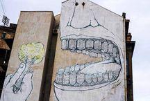 """Street Art / Muchas más imágenes como ésta las puedes encontrar en el apartado de """"Recortes"""" del """"Blog de Creatividad de Marielo García"""""""