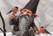 Gnomes - Lutins - Pixies / Paintings, illustrations and art about the Beings of Nature of the Earth element (Spirits of Nature, Elementals, émanants, Sidhe, Petit Peuple): Gnomes, Lutins, Pixies, Brownies.