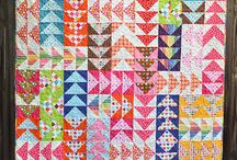 Flying Geese Patchwork / One of my favourite patchwork blocks